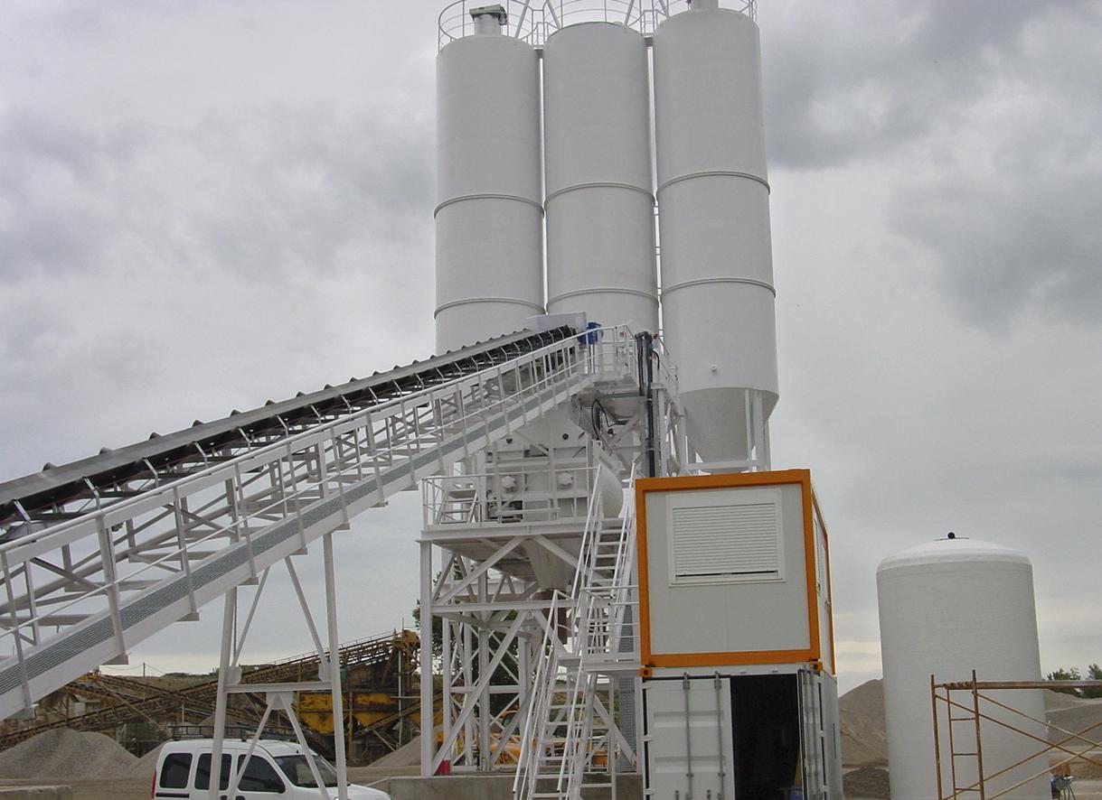 Tolvas de planta de hormigón horizontal