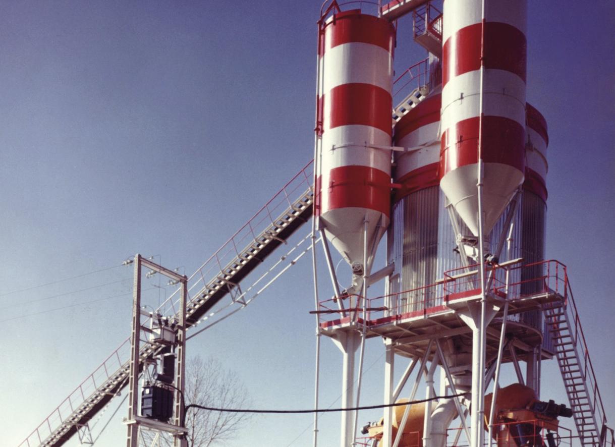 Tolvas de planta de hormigón de torre