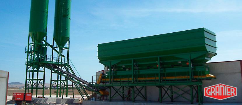 Planta de hormigón con maquinaria Granier