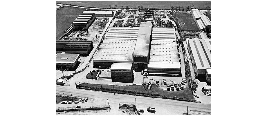Foto aérea de las antiguas instalaciones de Granier